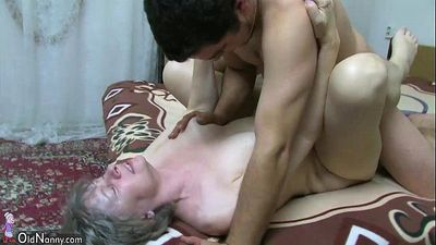 OldNanny Granny sucking dick and fucking hard - 8 min HD