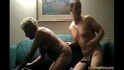 Blonde Granny Woman Fuck Hard - 7 min