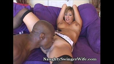 Huge Black Cock Stuffs My Horny Wife - 2 min