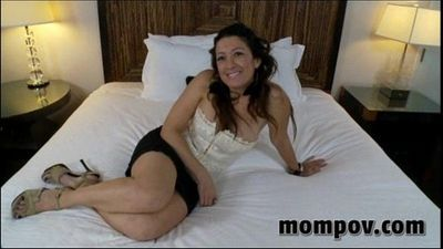 cute brunette milf fucks and sucks - 5 min