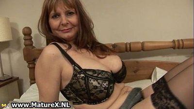 Ripe older lady with huge - 5 min