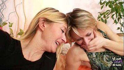 Two mature amateur milfs lesbian first time video - 5 min