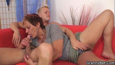 Hot guy screws neighbour granny - 6 min