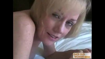 Nasty ass horny granny gets fucked by young dude - 6 min