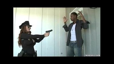 Police Women Likes It Black! - 3 min