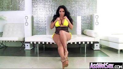 Anal Hard Sex Scene With Curvy Oiled Huge Butt Cute Girl (kiara mia) vid-17