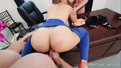 Teen Kimber Lee has Lesbian 3some with Sara Jay N MaggieHD+