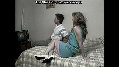 Ginger Lynn Allen, Tiffany Blake, Tom Byron in classic porn movie