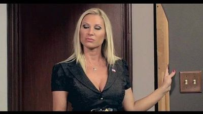 Blonde milf Devon Lee office fuck