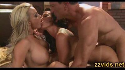 Lezley Zen Holly Halston threesome