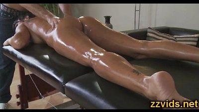 Lezley Zen hot milf fucked after massage