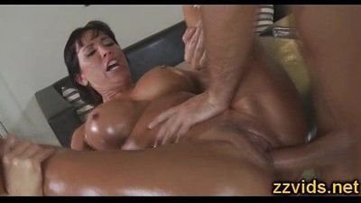 Busty milf Lezley Zen fucked after massage