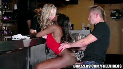 BrazzersEbony and ivory, anal threesomeHD