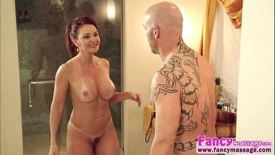 Redhead and MILF Janette gets her pussy penetrated by Derrick Pierce
