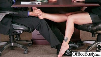Round Big Tits Girl (Holly Heart) Get Banged In Office clip-25