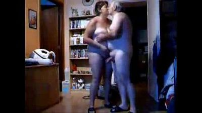 Hidden cam caught my parents home alone having fun in living room - 1 min 36 sec