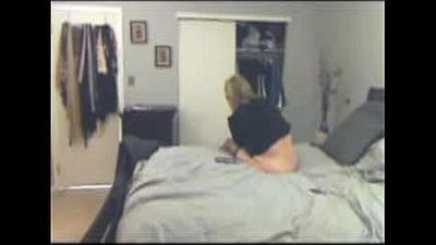 Incredible. Son entering in bedroom of mom caught her fingering - 45 sec