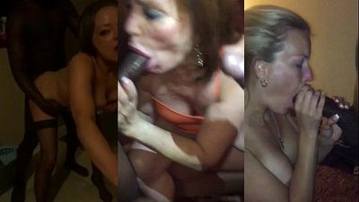 Triple Threat - Amateur wives take black cock in all holes - 2 min