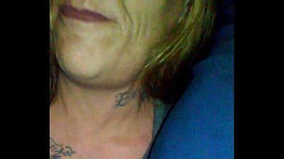 showed mature tattooed biker bitch that Black Dicks Matter shot cum in her mouth - 57 sec
