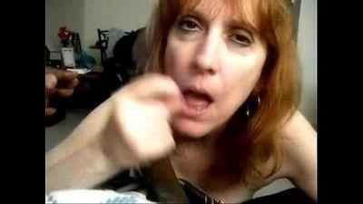 My Mature Fuck Friend Sucking Cock and Cum - 2 min
