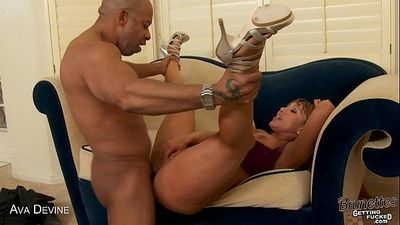 Brunette milf Ava Devine gets butt fucked - 5 min HD