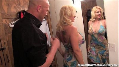 Horny Couple Has Threesome With Teen Babysitter! - 7 min HD