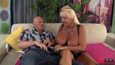 Busty Blonde GILF Mandi Mcgraw From SEXDATEMILF.COM Enjoys some Cock - 6 min