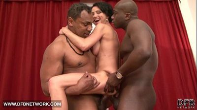 Mature Rough Double Fucked Likes Big Black Cocks In Pussy And Hard Anal - 6 min HD