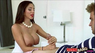 Angel Del Rey shared cock with busty stepmom Ariella Ferrera - 6 min