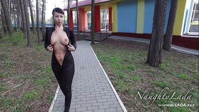 Walking around in my black outfit - 2 min HD