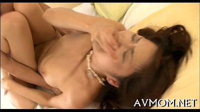 Milf takes on two lustful fellows - 5 min