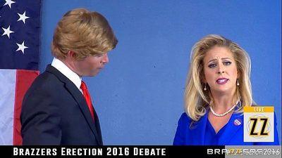 donald drumpf sikikleri Hillary clayton sırasında bir tartışma - 6 min