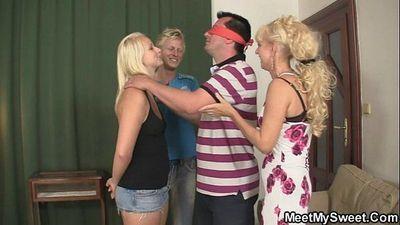 Naughty GF and his family having sex - 6 min