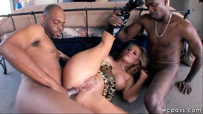 Two Black Dicks For This Busty MILF - 8 min