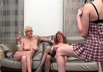 Two horny mature wifes having - 5 min