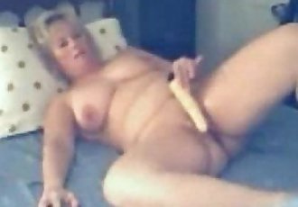 Hidden cam caught my busty mum having fun on webcam - 2 min