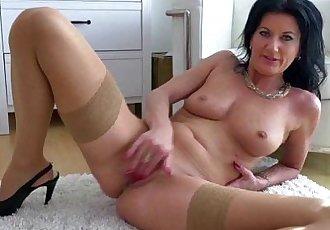 MILF masturbating in stockingsHD