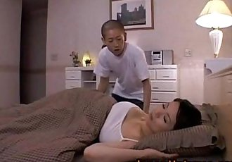 Miki Sato and young boy - sleeping (part 2 of 9) - 5 min