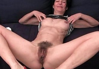 Granny hides a full bush in her soaked panties - 5 min HD