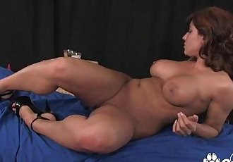 Latin MILF bangs herself and rides a huge dildoHD