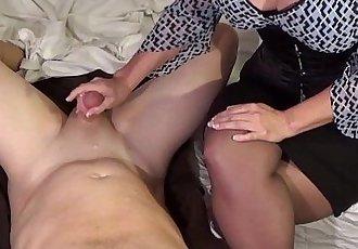 Busty Milf milks boy - 8 min