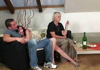 Horny granny seduces son in law - 6 min