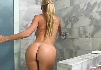 Alexis Fawx is fucked hard in the shower.