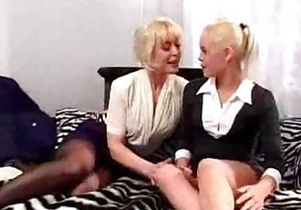 mature fucks young woman with strapon