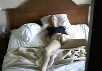 My mum masturbating caught by hidden cam on the closet - 2 min