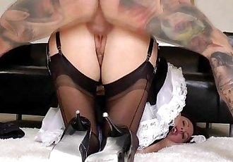 Mature stockings slammed from behind in high def