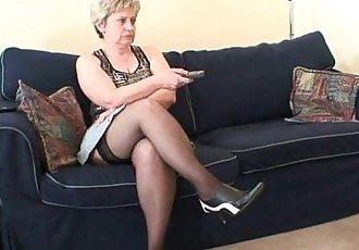 Granny takes two cocks after masturbation - 6 min