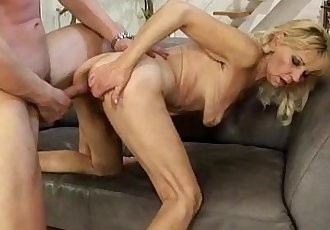 Mature blonde granny doggystyle fucked - 7 min