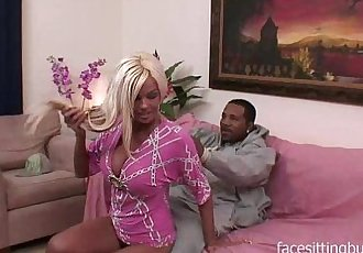 Black guy comes to a blondes MILF home for a booty call.
