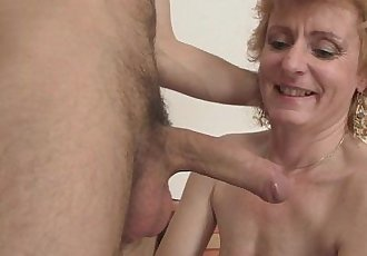 Cute mature lady and boy - 6 min HD